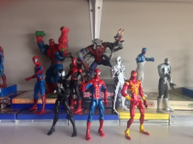 Main Spider-man: Symbiote, Classic, Iron, Parker Industry, First Appearance, Future Foundation, Armor, Spider-Hulk, Man-Spider, Cosmic